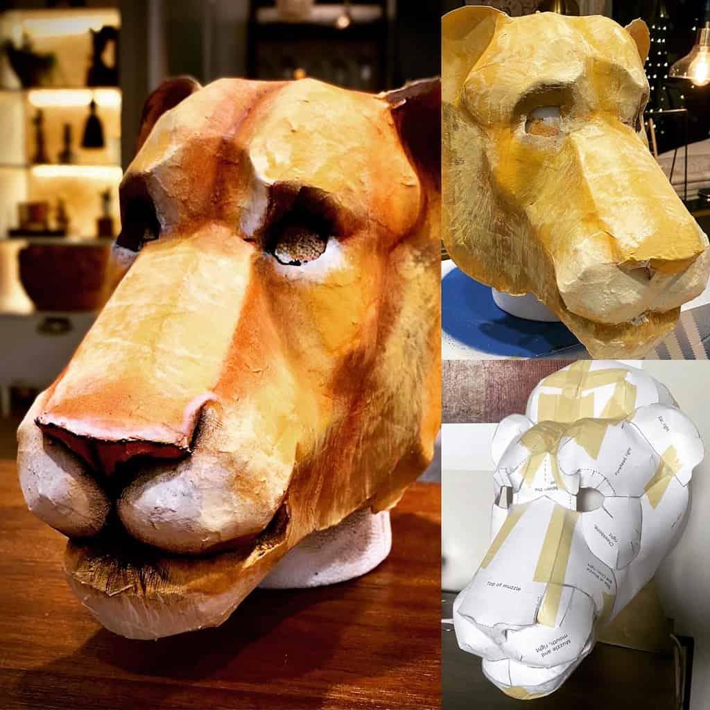 Dandy Lion mask progress photos
