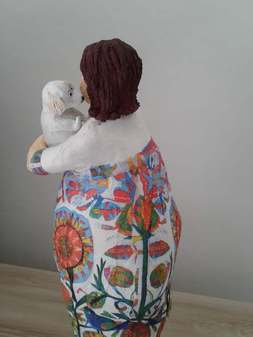 Paper mache figure sculpture