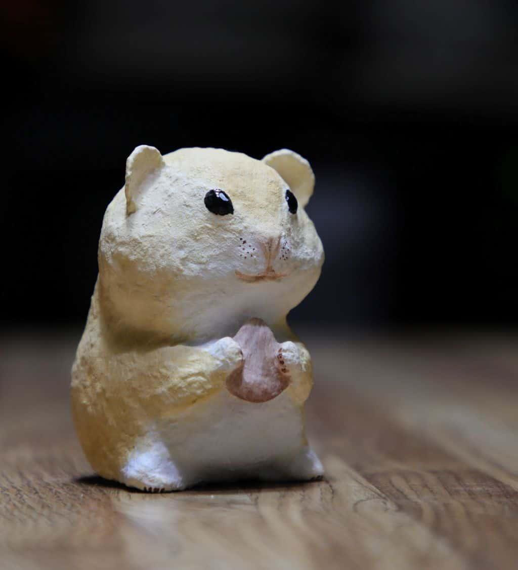 paper mache hamster