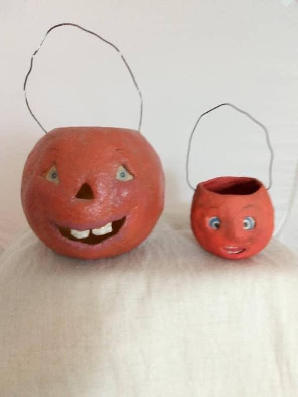 Paper mache 'vintage' pumpkins