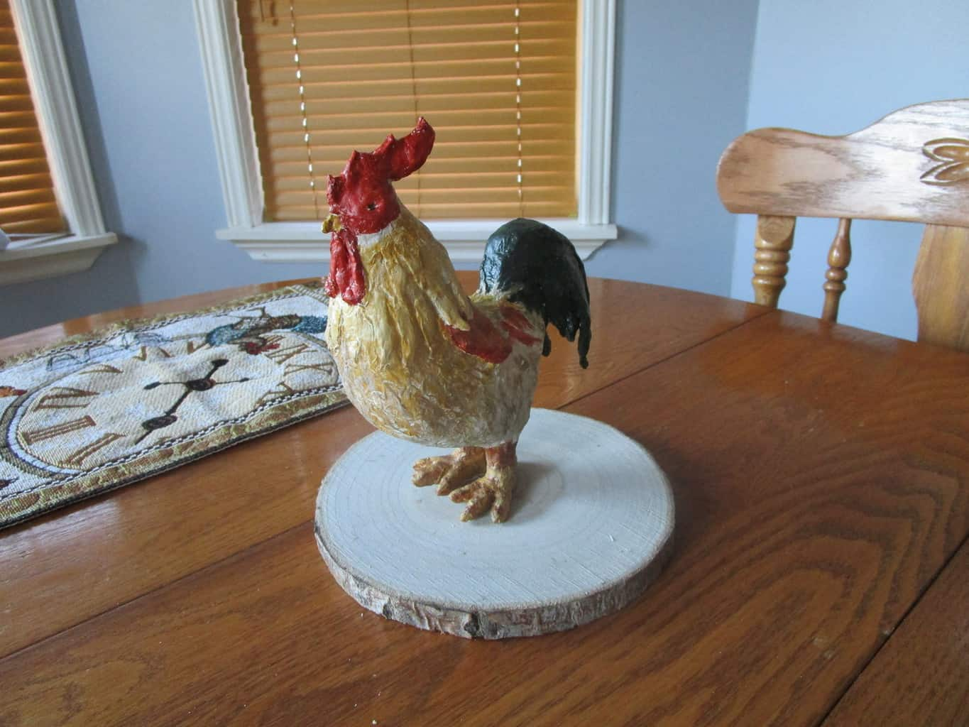 Air dry clay rooster
