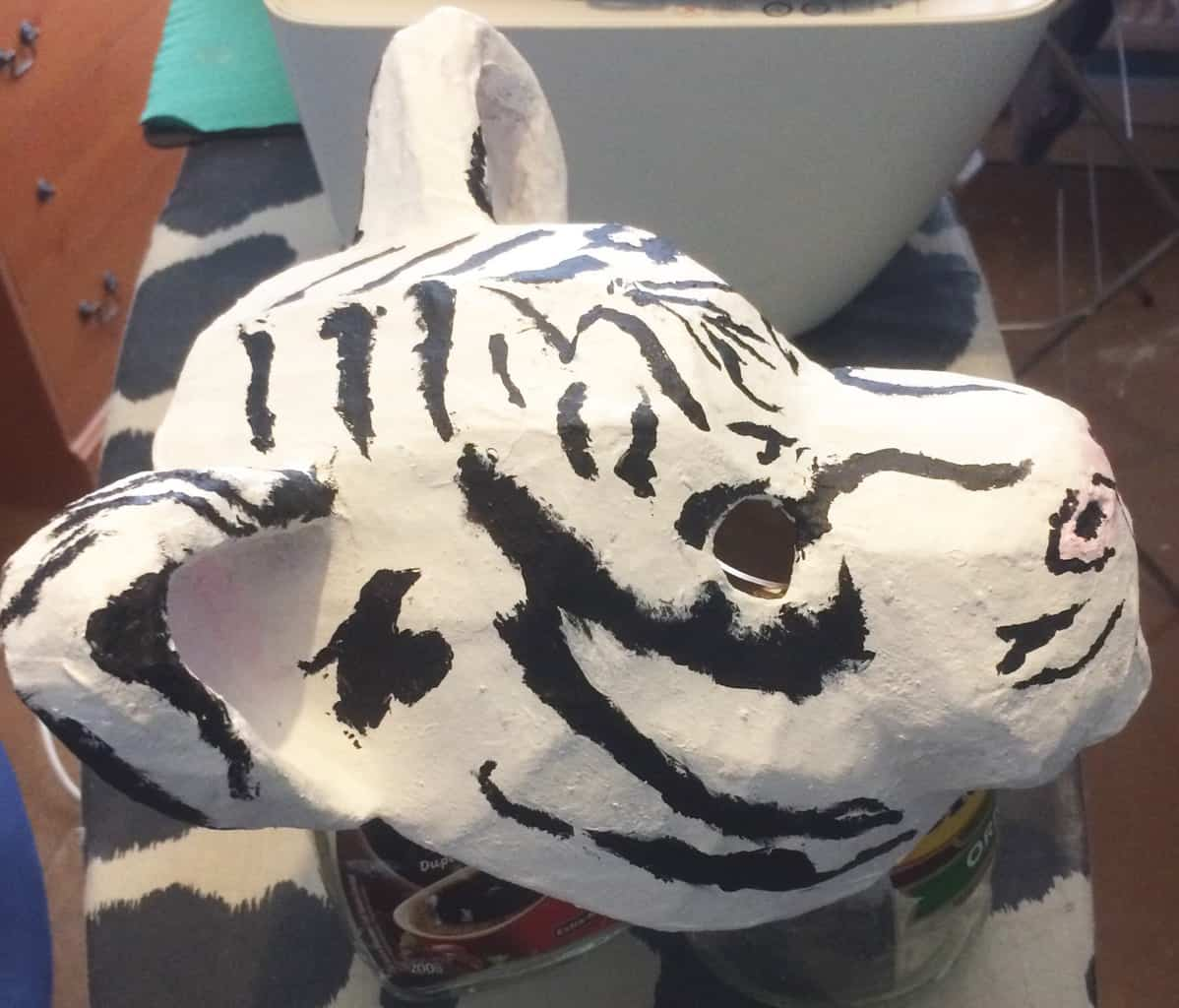 baby white tiger mask side view