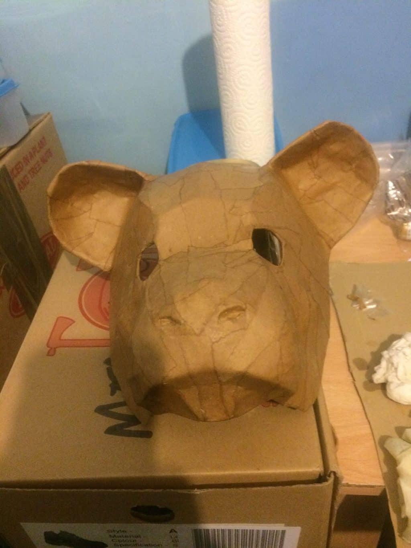 Simba mask in progress