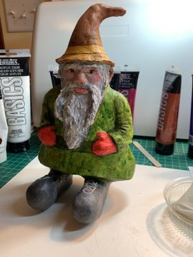 Paper Mache Gnome