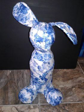 """Paper mache """"funny bunny"""""""