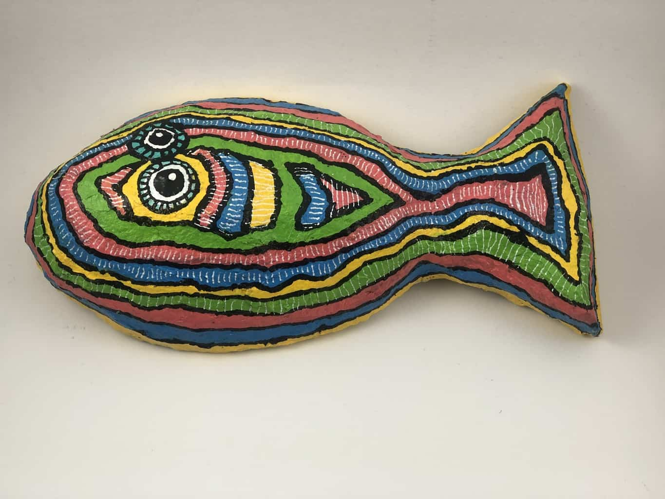 Mexican inspired paper mache flounder