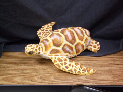 Turtle made with paper mache clay