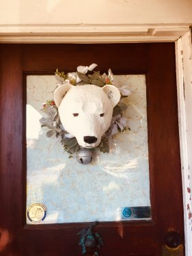 Paper mache polar bear