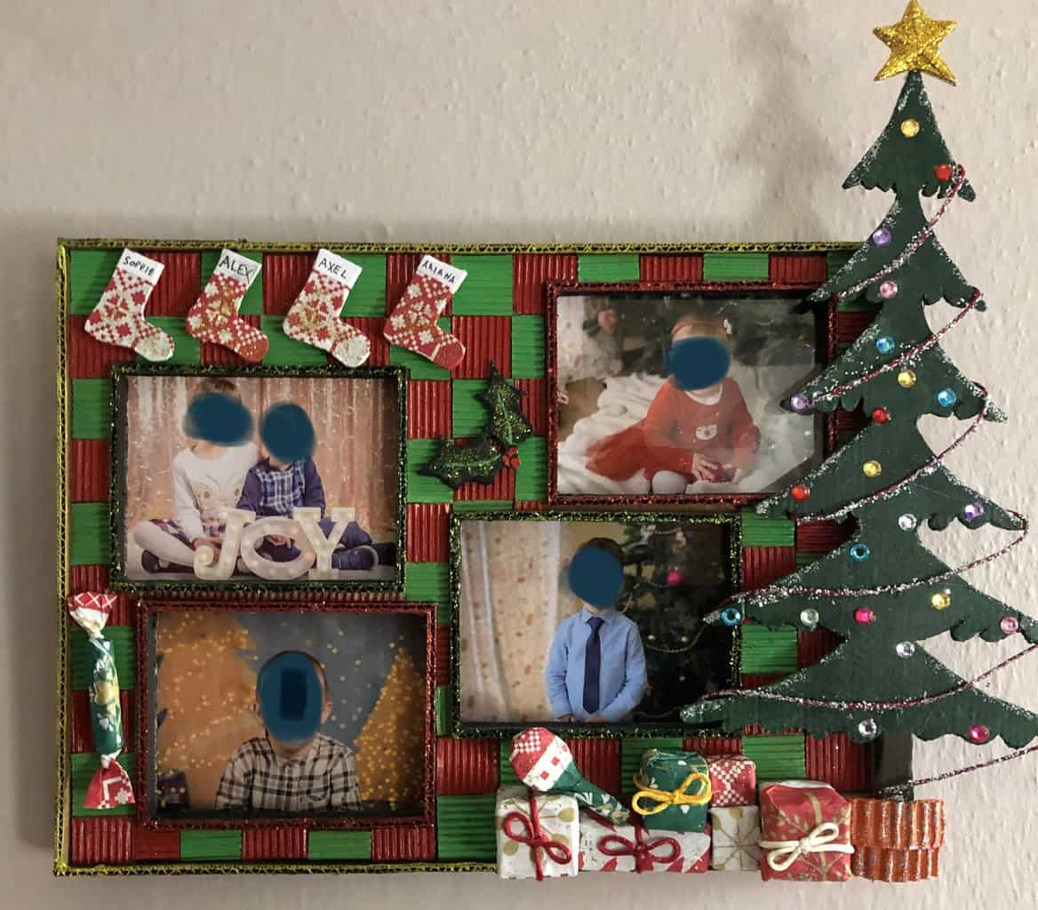 Cardboard Christmas Photo Frame