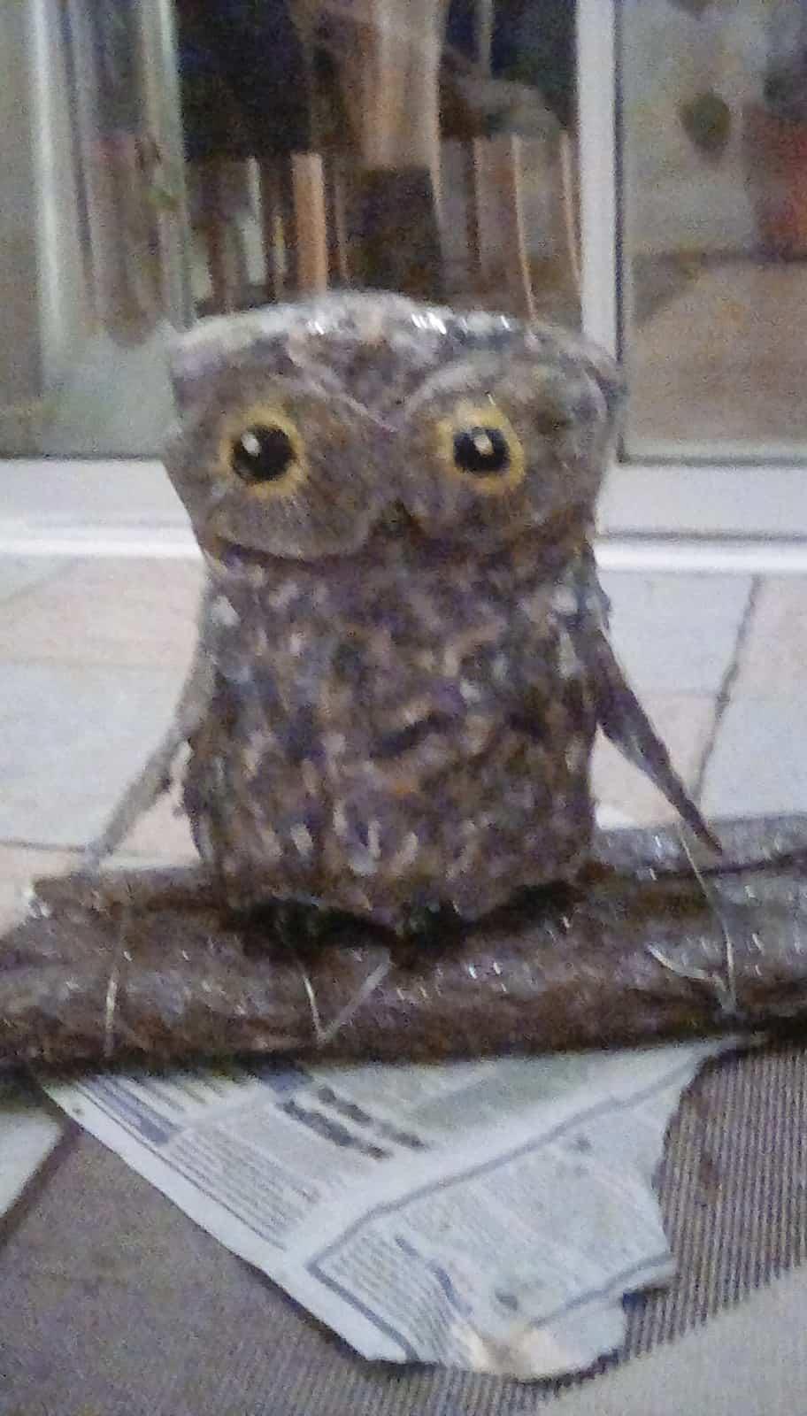 Large paper mache owl