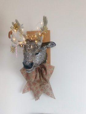 Paper mache Christmas reindeer