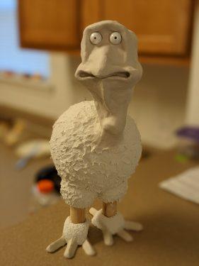 Cartoon Turkey paper mache clay