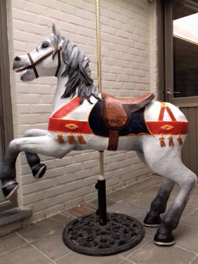 Painting the carousel horse