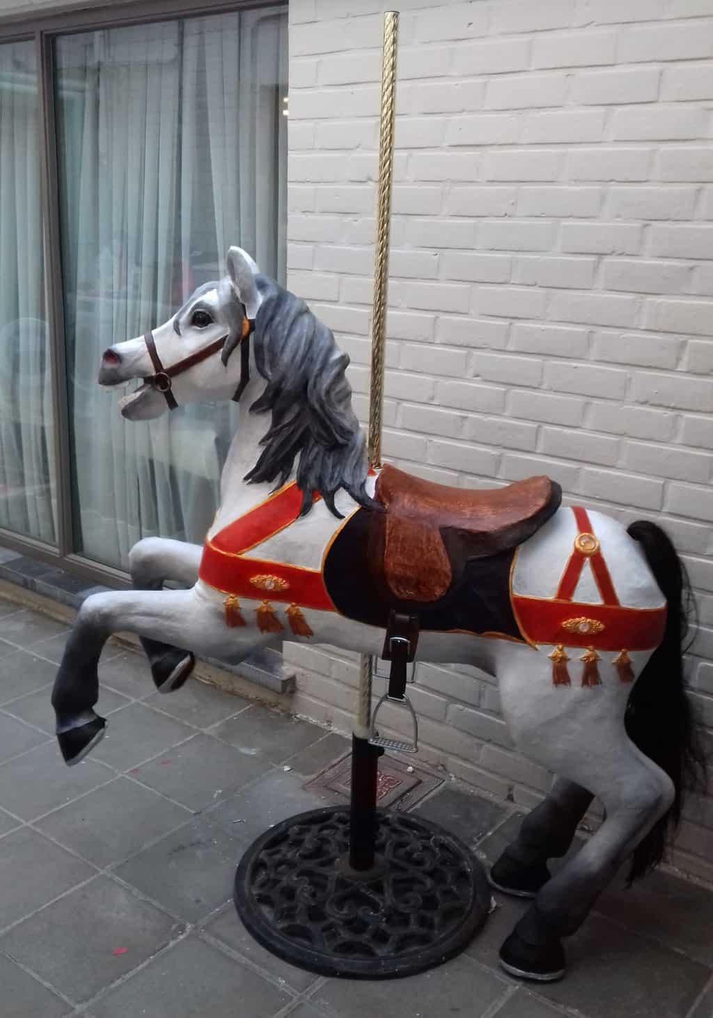 Carousel horse side