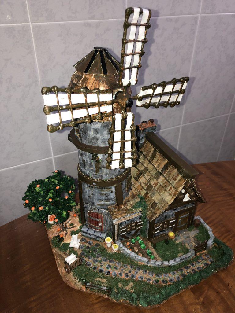 Paper mache windmill