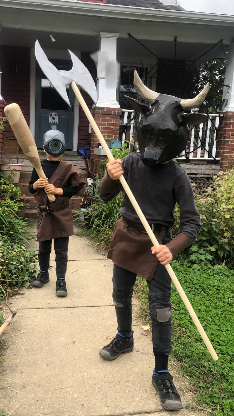 Minotaur and Cyclops Costume Masks