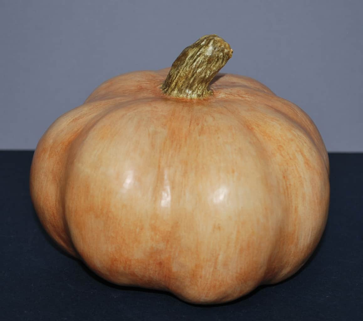 Pumpkin made with paper mache clay
