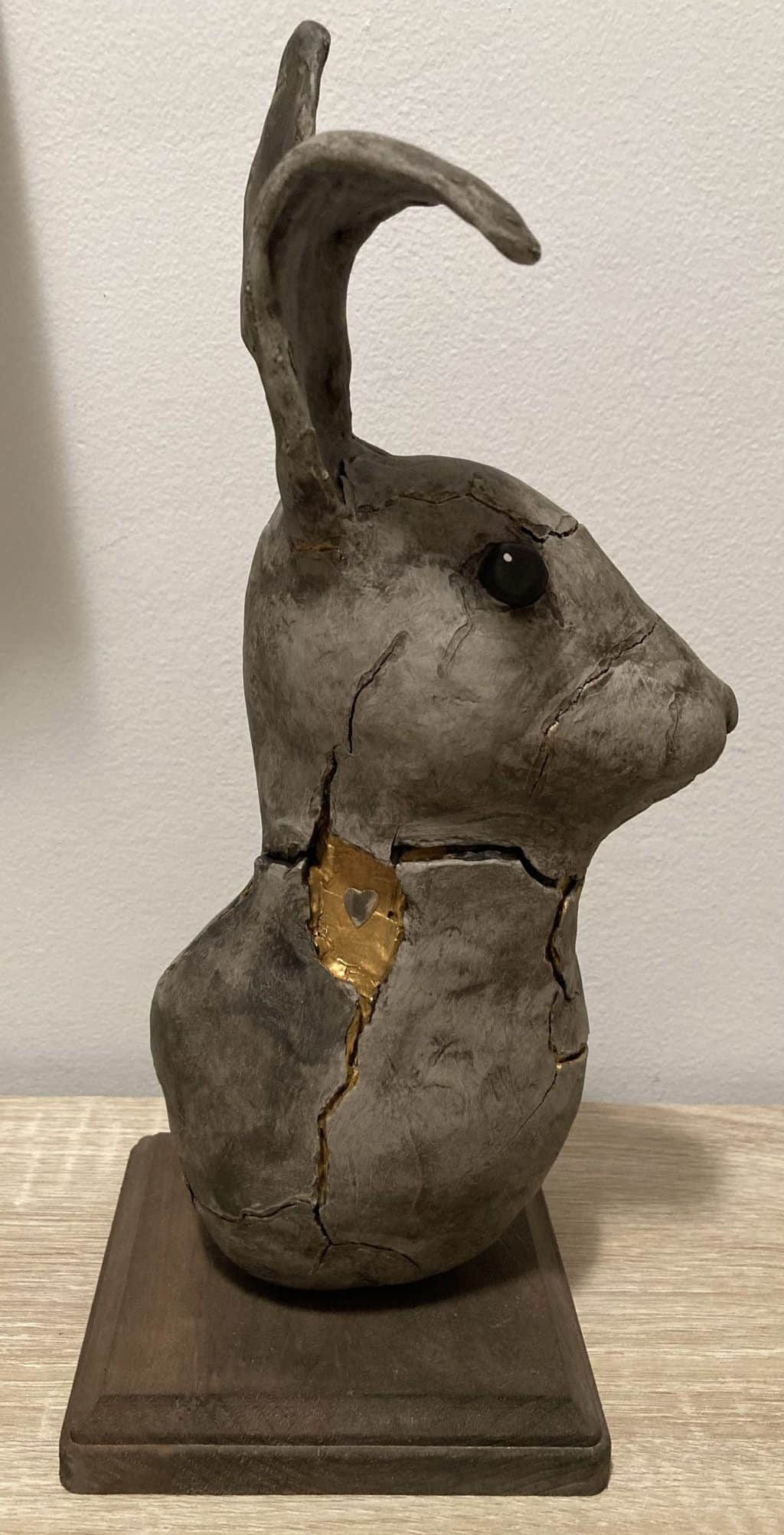 Bunny made with air dry clay