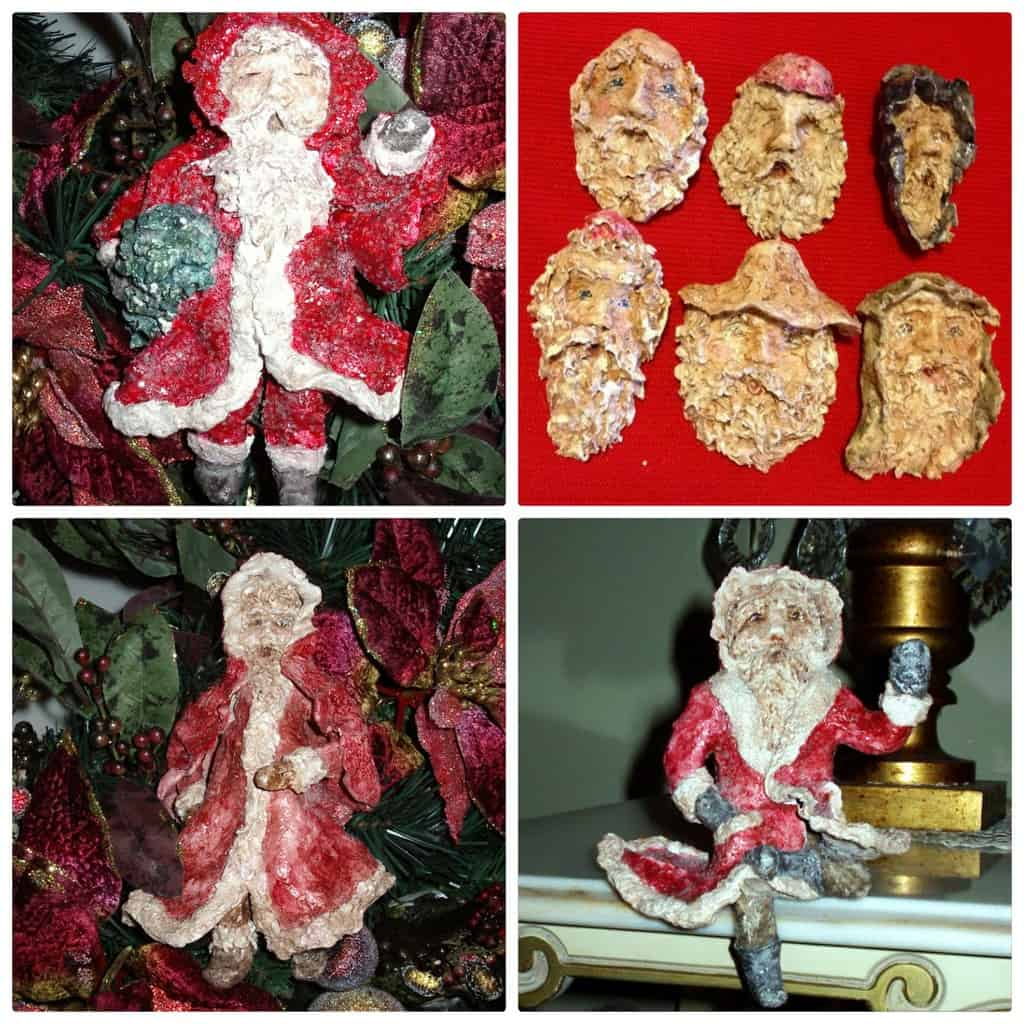 Christmas ornaments made with Activa Instant CelluClay.2