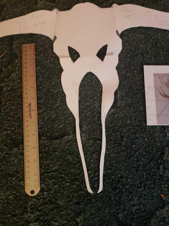 Pattern for cardboard moose