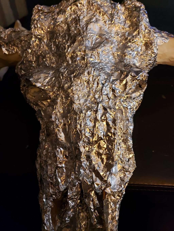 Armature for paper mache moos skull