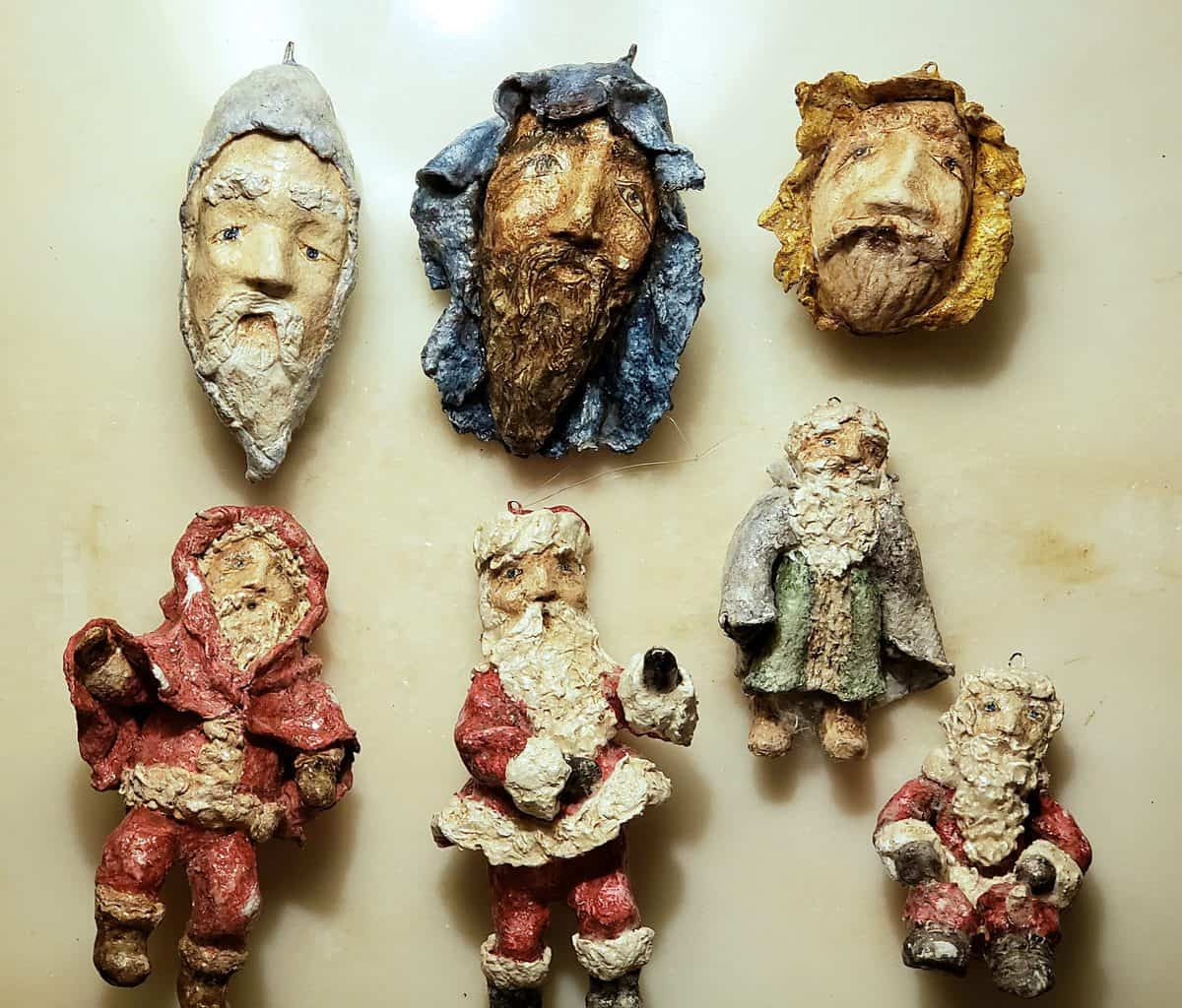 Christmas ornaments made with Active Celluclay