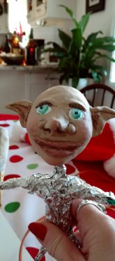 cold porcelain clay elf head