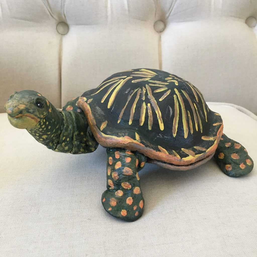 Turtle made with DIY air dry clay