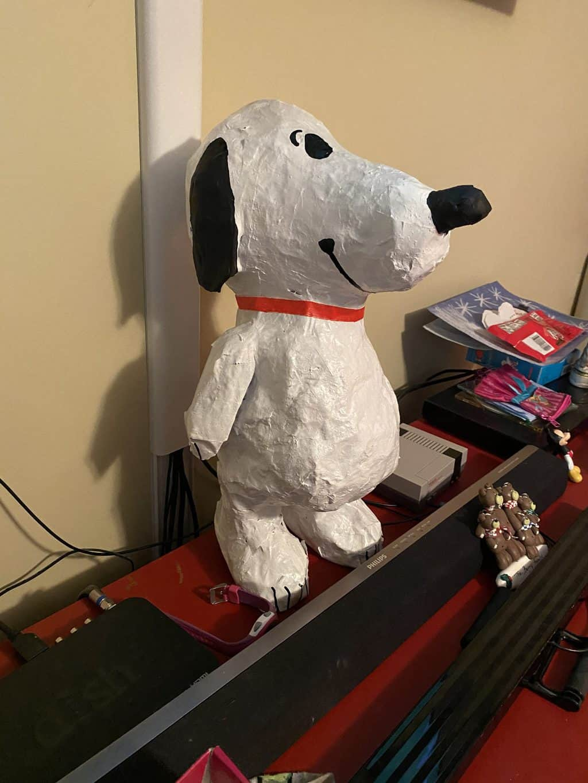 Paper Mache Snoopy