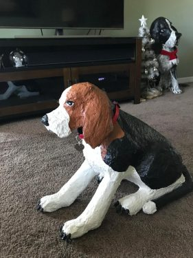 Fletch, the paper mache beagle