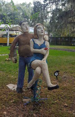 Papercrete figure sculpture