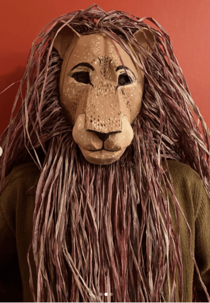 Mufasa mask for the Lion King Jr Play