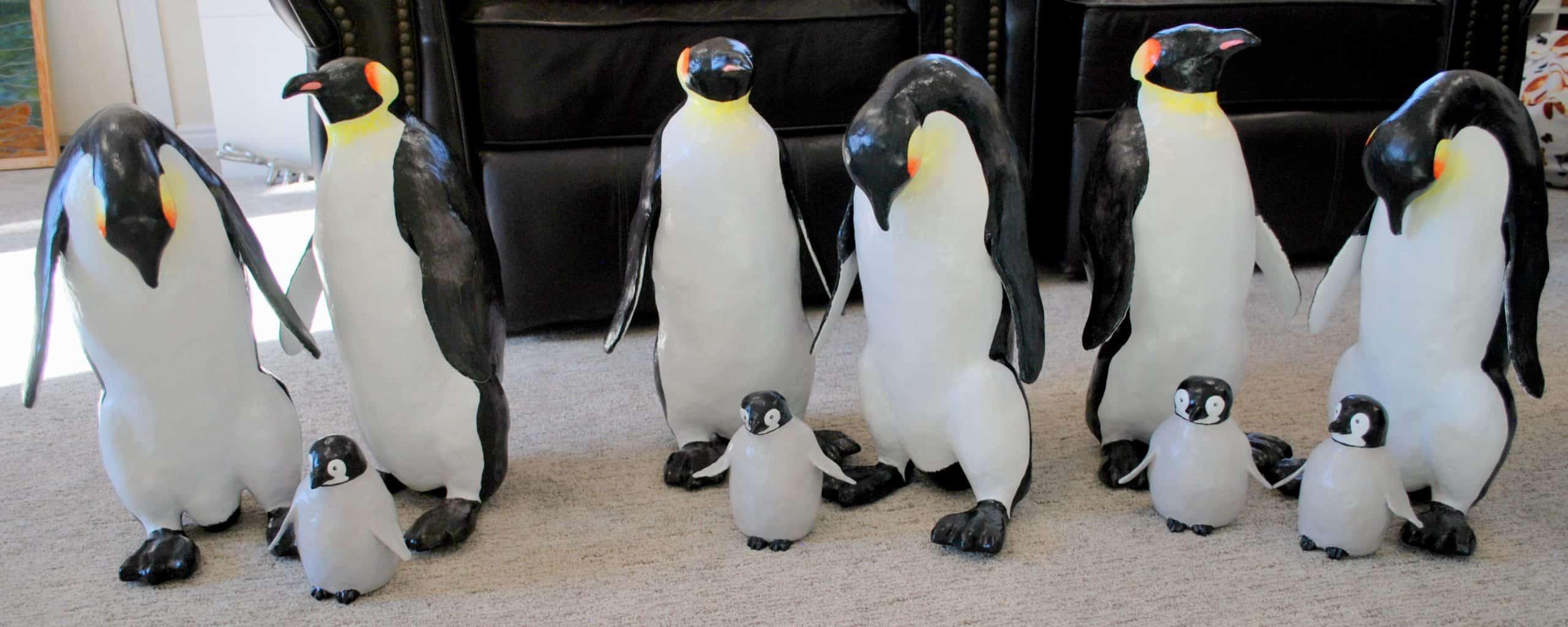 Paper Mache penguins