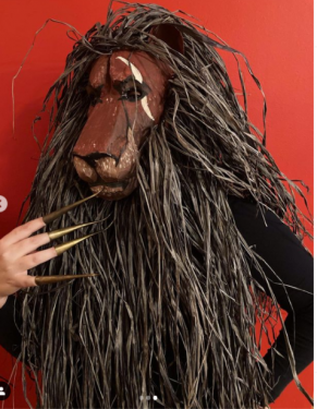 Scar mask from the Lion King Jr. Play