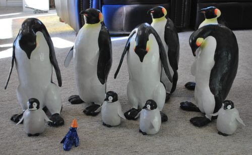 10 Paper Mache penguins