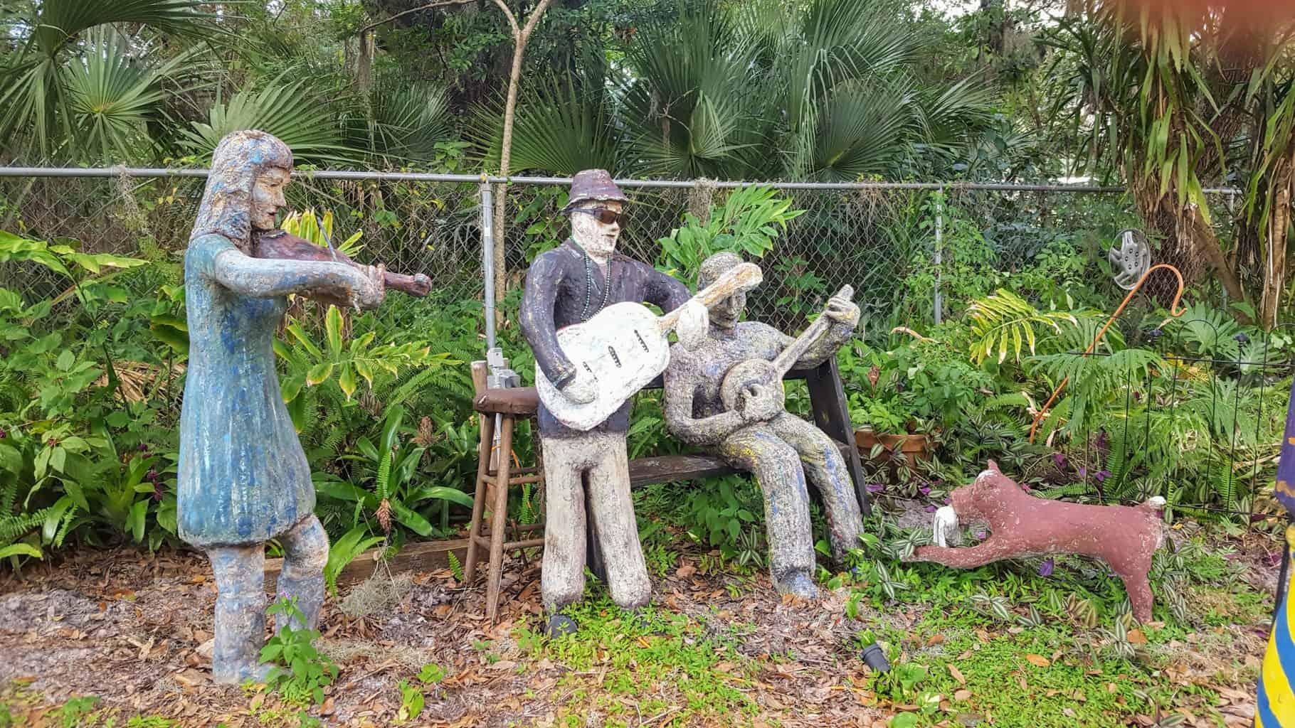 Papercrete figure sculpture-the-band