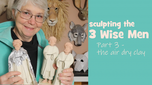 Sculpting the 3 Wise Men