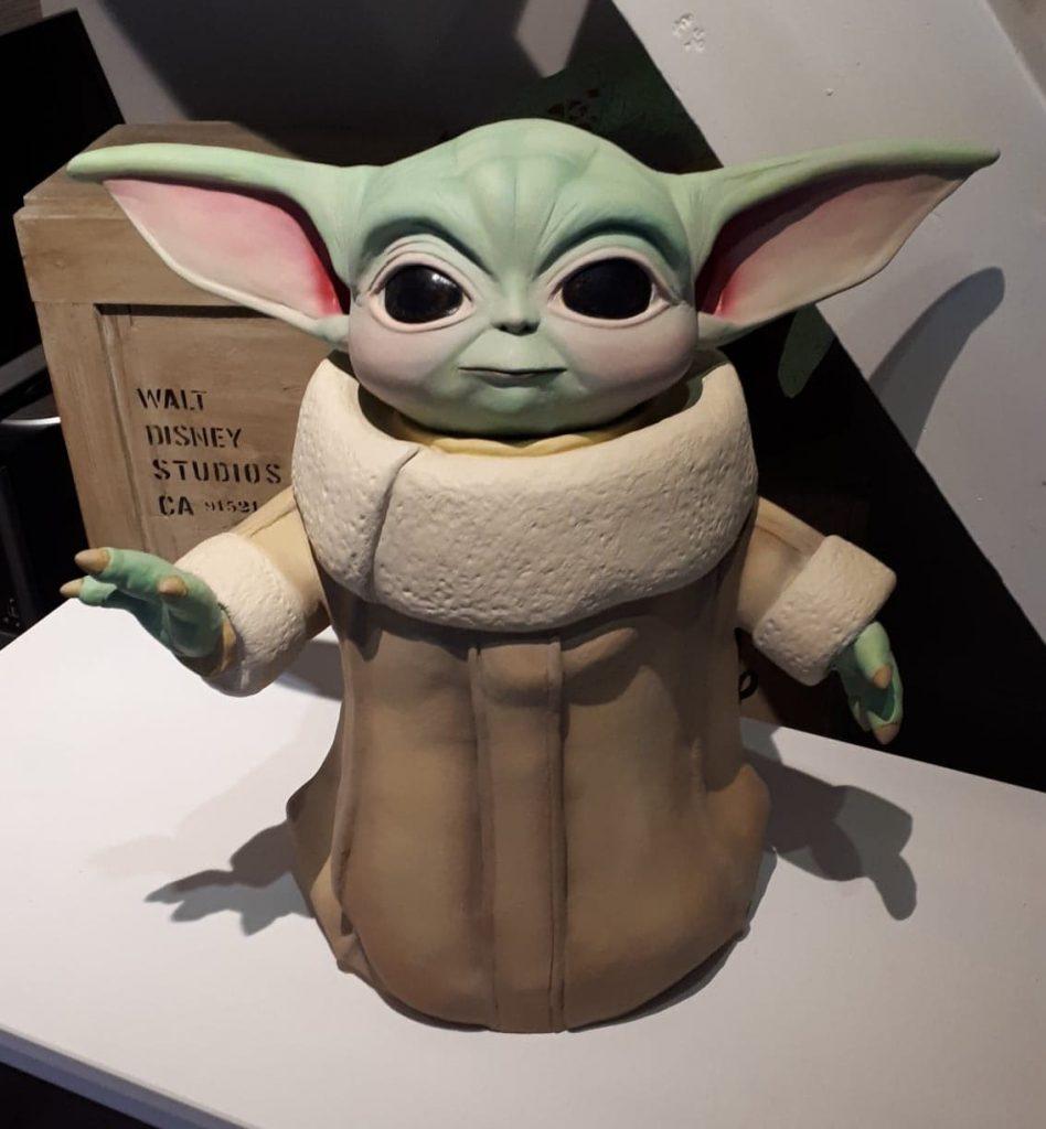 Grogu paper mache statue
