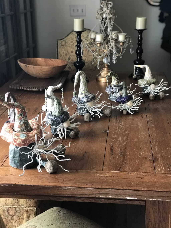 Eight Christmas Gnomes