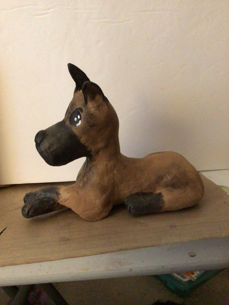 Great Dane Made With Paper Clay