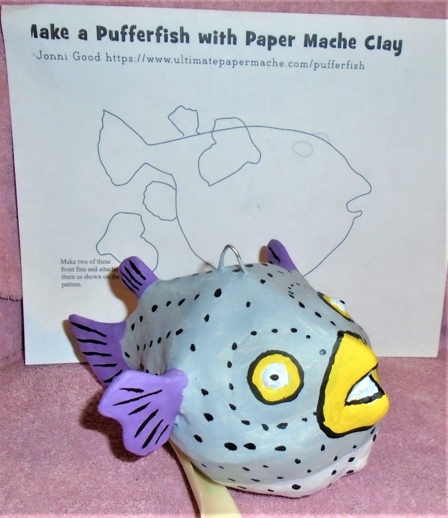 Paper Mache Pufferfish