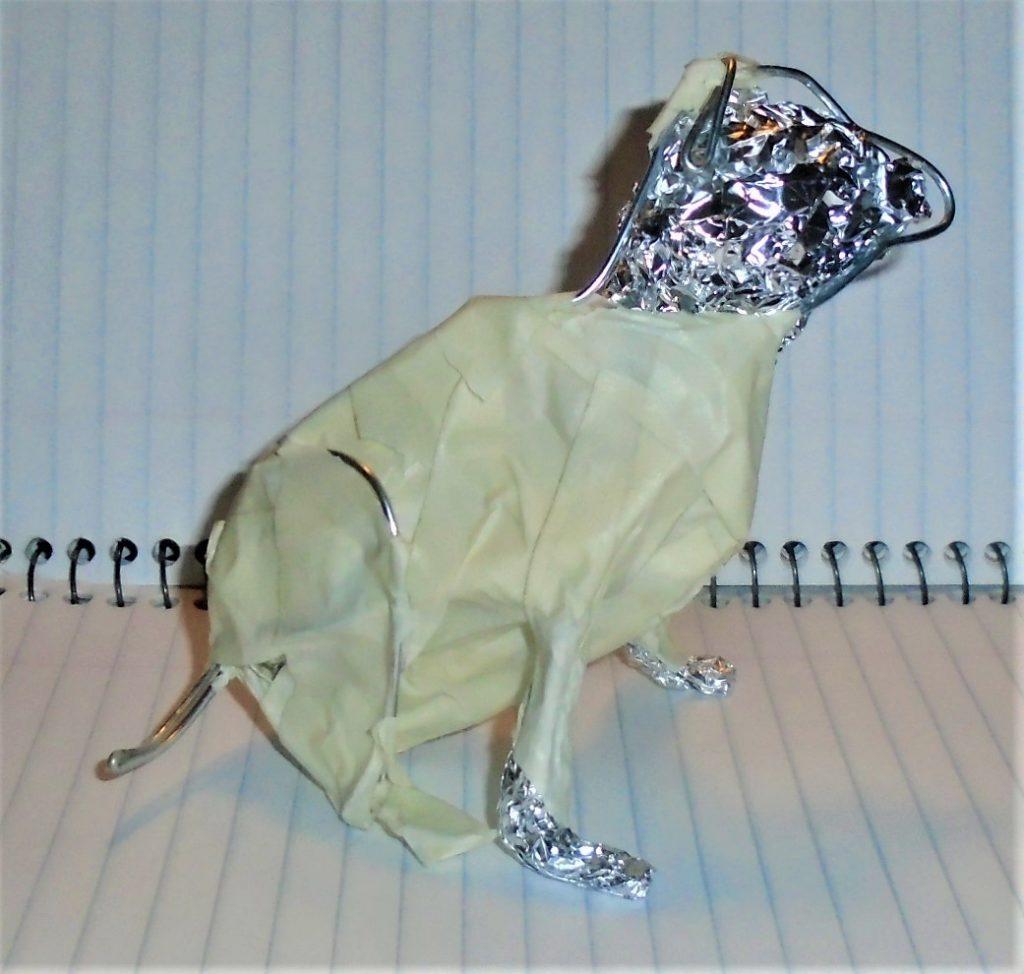 Armature for paper mache dog