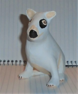 Spud the paper mache dog