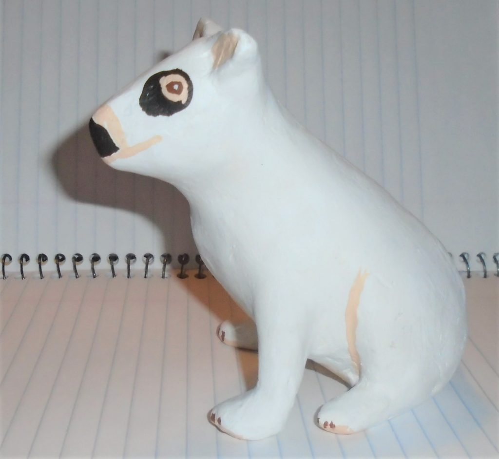 Spud the Target dog, made with air dry clay