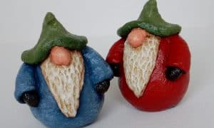 Gnomes made with Celluclay