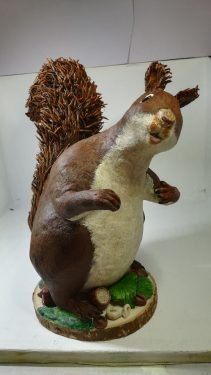 Paper clay squirrel