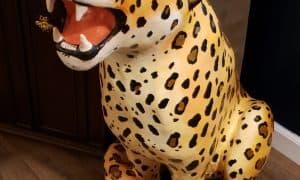 Paper mache leopard