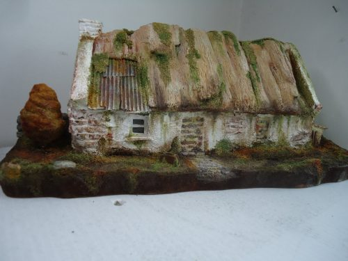 Papier mache Irish Cottage