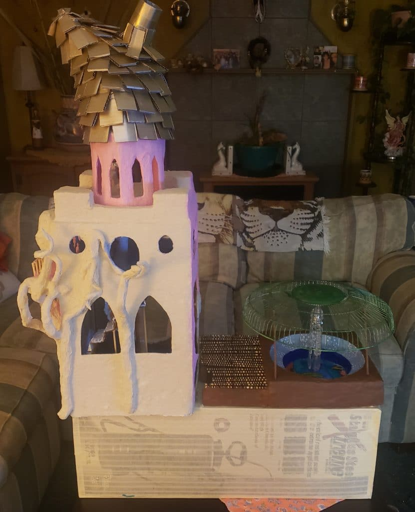 Paper mache fairy house by by Stephanie Nasshahn