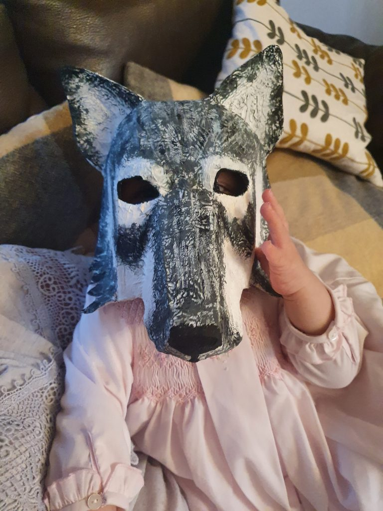 Wolf mask for the Little Red Riding Hood Story